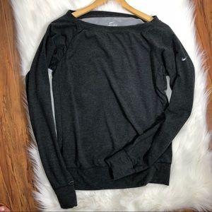 Nike Gray Long Sleeve Dri-Fit X-S w/ Thumb Sleeves